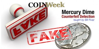 CoinWeek Video: Mercury Dimes Counterfeit Detection with Bill Fivaz (9:57).