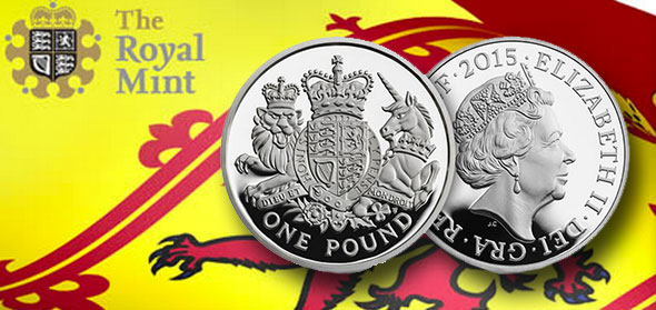 Royal Arms Redesigned On 2015 United Kingdom 163 1 Coin