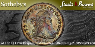 Coin Profile – 1796 Quarter Dollar Coin Sells for $1.53 Million at Pogue Sale. VIDEO: 4:19