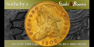 Coin Profile – 1808 Quarter Eagle Gold Coin Sells for $2 Million at Pogue Sale. VIDEO: 3:54.