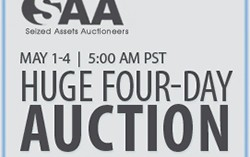 Seized Assets Auctioneers 4-Day Auction