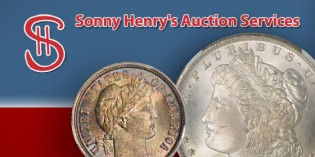 Preview of Sonny Henry's June 13 Coin Auction