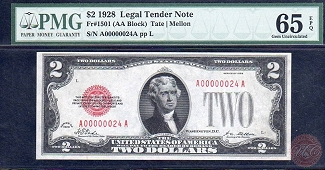 1928 $2 LEGAL TENDER NOTE