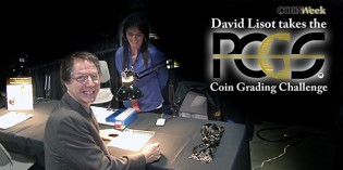 David Lisot Takes the PCGS Coin Grading Challenge. Video: 4:27