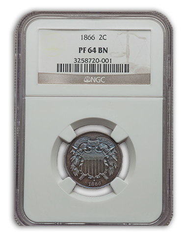 NGC 1866 2 cent Proof