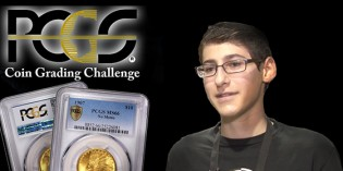15 Year Old Takes PCGS Coin Grading Challenge at Long Beach Expo – VIDEO: 2:40.