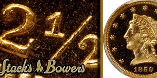 Rare Proof 1859 New Reverse Quarter Eagle to be Sold at Stack's Bowers August ANA Sale