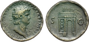 sestertius of the Roman Emperor Nero (A.D. 54-68)