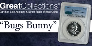 1952 Franklin Proof Bugs Bunny Variety to be Auctioned by GreatCollections