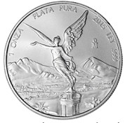 2015 1oz Silver Mexican Libertad - Brilliant Uncirculated