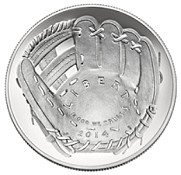 2014 Unc. Baseball Hall of Fame Commemorative Silver Dollar