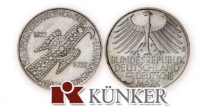 Künker: 28,000 Euros for Artist's Design of First West German Commemorative Coin