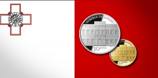 Malta Issues Auberge De Bavière Silver and Gold Coins