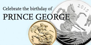 Royal Mint Celebrates Prince George 2nd Birthday with £5 Silver Coin
