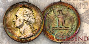 Breathtaking 1951-D Washington Quarter in Legend Rare Coin Auctions' Regency XIII Sale