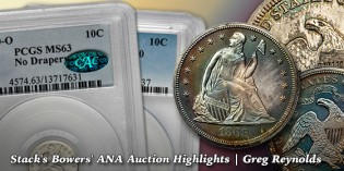 Classic Silver, Dahlonega $2½ Gold, and Carson City U.S. Coins Highlight Stack's Bowers' ANA Auction