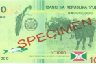 Burundi Issues New 1,000 Franc Note