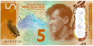 World Paper Money – New Zealand's New $5 Bill Wins International Banknote of the Year Award