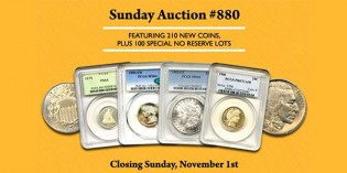David Lawrence Rare Coins Sale Highlights – Internet Auction 880 (Closes Sunday, November 1)