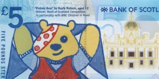Bank of Scotland Reveals BBC Children in Need Commemorative £5 Banknote