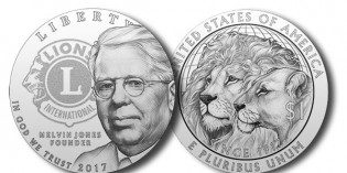 U.S. Mint Ceremonial Strike of Lions Clubs Commemorative Coin Nov. 9