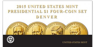 2015 Presidential $1 Four-Coin Sets Available Oct. 22