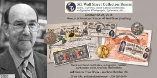 Herzog Scripophily Collection Auction Part 1 at 2015 Wall Street Collectors Bourse