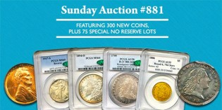 David Lawrence Rare Coins Sale Highlights – Internet Auction 880 (Closes Sunday, November 8)