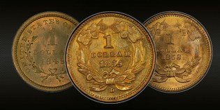 The Liberty and Indian Princess Head Gold Dollars