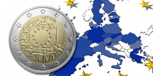 Bank of Latvia Issues 2 Euro Coin to Honor 30 years of EU flag
