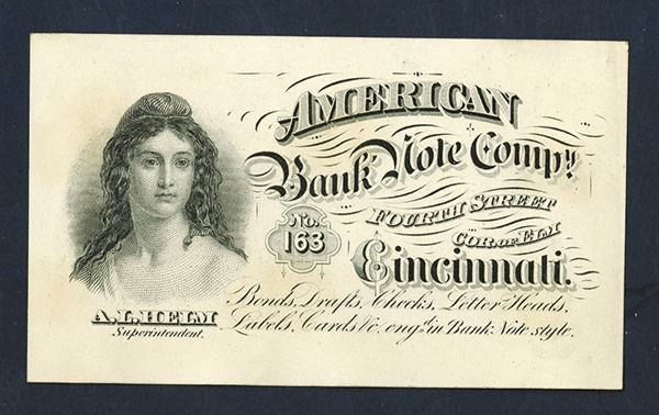 American Bank Note Co. Cincinnati Business Ad Card