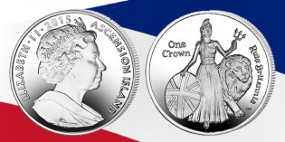 Britannia Features on New Ascension Island Coin