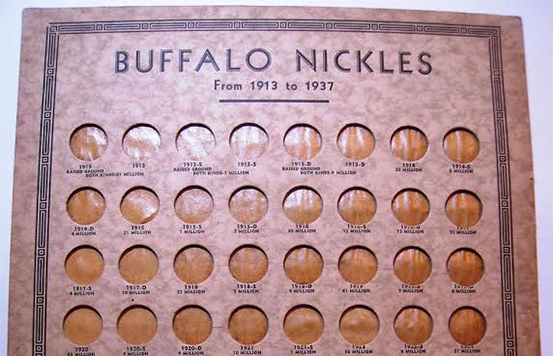 Whitman First Edition Buffalo Nickel Premium coin album. Courtesy David W. Lange