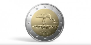 Latvia Issues Special 2 Euro Coin Featuring Nesting Stork