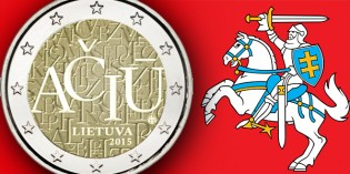 Lithuania Says Thank You on Country's First 2 Euro Commemorative Coin