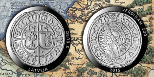 Bank of Latvia Issues Collector Coin 500 Years of Livonian Ferding