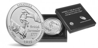 Saratoga 5 oz. Silver Uncirculated Coin on Sale Now