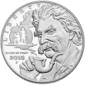 Obverse, United States 2016 Mark Twain Commemorative $1 Silver Proof Coin, Courtesy U.S. Mint