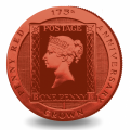 reverse, Ascension Island 2016 Penny Red Stamp 175th Anniversary Coin