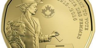 Canadian Coins – New Dollar Coin Celebrates 100th Anniversary Canadian Women's Right to Vote