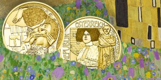 Austrian Coins – Austrian Mint Issues Final Gold Coin in Klimt and His Women Series – The Kiss