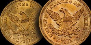 Philadelphia Mint 1859 Design Change Creates Three Rare $2.50 Gold Coins