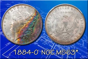 This Morgan has beautiful rainbow patina across the obverse. Attractively toned examples trade at premiums for eye appeal.