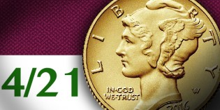 Modern US Coins – Mintage, Release Date Set for 2016 Gold Mercury Dime