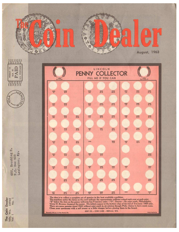 Coin Dealer magazine, 1963, Krause Publications
