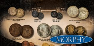 Morphy Auctions April 2016 Premier Coin Sales Event Offers Outstanding Selection of Coins & Currency