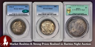 Coin Auctions – Market Realities & Strong Prices Realized in Rarities Night Auction