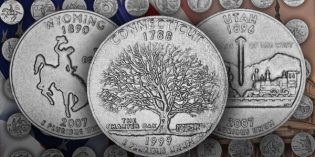 50 State Quarters Designs Replace Confederate Flags under Congressional Office in Washington, D.C.
