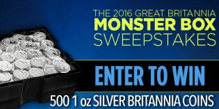 Win 500 Ounces of Silver in APMEX & Royal Mint Britannia Coin Sweepstakes
