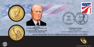 U.S. Mint Opens Sales for 2016 Gerald Ford $1 Coin Cover May 17
